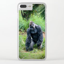 Standing Gorilla Clear iPhone Case