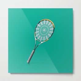 Playing tennis like a grandma Metal Print