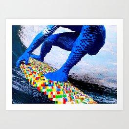 Leggo surfing! Art Print