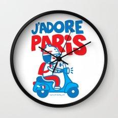 J´Adore Paris Wall Clock