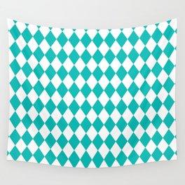 Diamonds (Tiffany Blue/White) Wall Tapestry