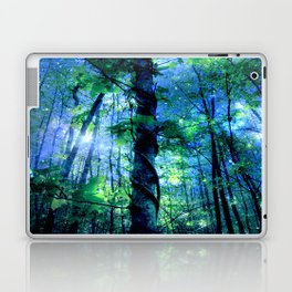 Forest of the Fairies Blue Night Laptop & iPad Skin