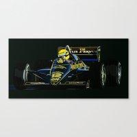 senna Canvas Prints featuring Senna  by Ricca Design Co.