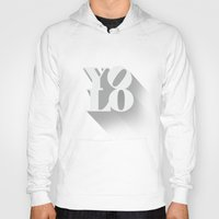 yolo Hoodies featuring YOLO by tomodachi