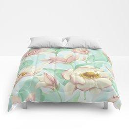 magnolia bloom - fairy version Comforters