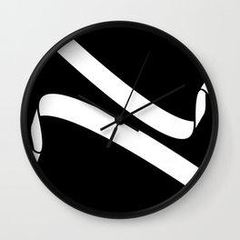 Black and White Ribbons Wall Clock