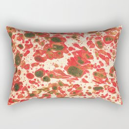 Colorful Christmas Holiday Marbling Rectangular Pillow