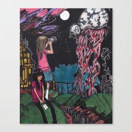 Psychedelic sea creatures Canvas Print