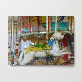 Pretty Carousel Cat Metal Print