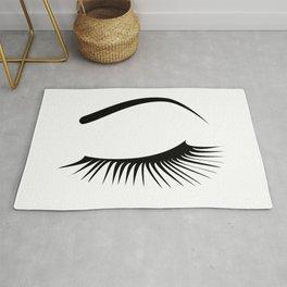 Closed Eyelashes Left Eye Rug