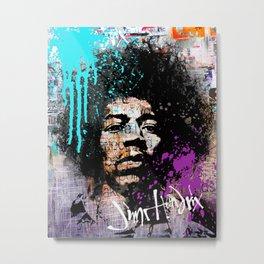 JIMI HENDRIX street art Metal Print