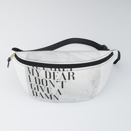 Frankly My Dear I Don't Give A Damn, Movies Quote,Gift For Her, Gift For Wife,Funny Print,Typography Fanny Pack
