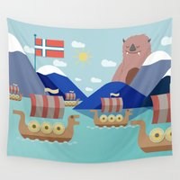 norway Wall Tapestries featuring Fjords of Norway pt.2 by Eric-Bird