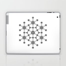 molecule. alien crop circle. flower of life and celtic patterns Laptop & iPad Skin