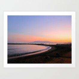 Spanish Sunset Art Print