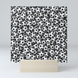 Soccer balls Mini Art Print