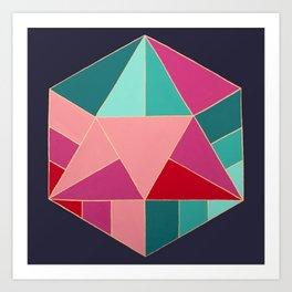 Icosahedron Art Print