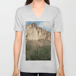 Cactus and Mountains Unisex V-Neck