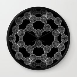 GEOMETRIC NATURE: MOLECULAR SOCCER b/w Wall Clock