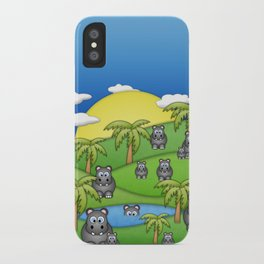 Hippos. iPhone Case
