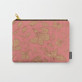 Coral Classic Floral Carry-All Pouch