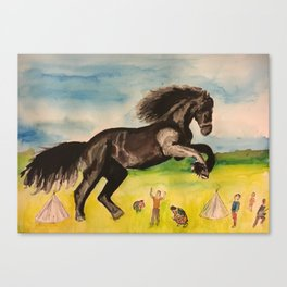 The destructive horse Canvas Print