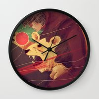 courage Wall Clocks featuring Courage by James M. Fenner