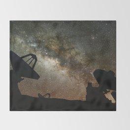 Radio Telescopes and Milky Way Throw Blanket
