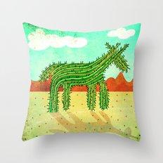 Cactus Unicorn Throw Pillow