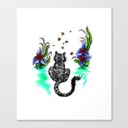 Tiger Paint Canvas Print