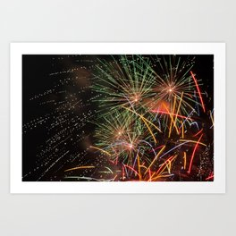 Colorful fireworks Art Print