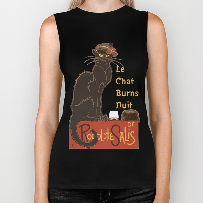 Le Chat  Burns Nuit With Haggis and Dram Biker Tank