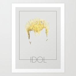 Iconic Hair - Billy Idol Art Print