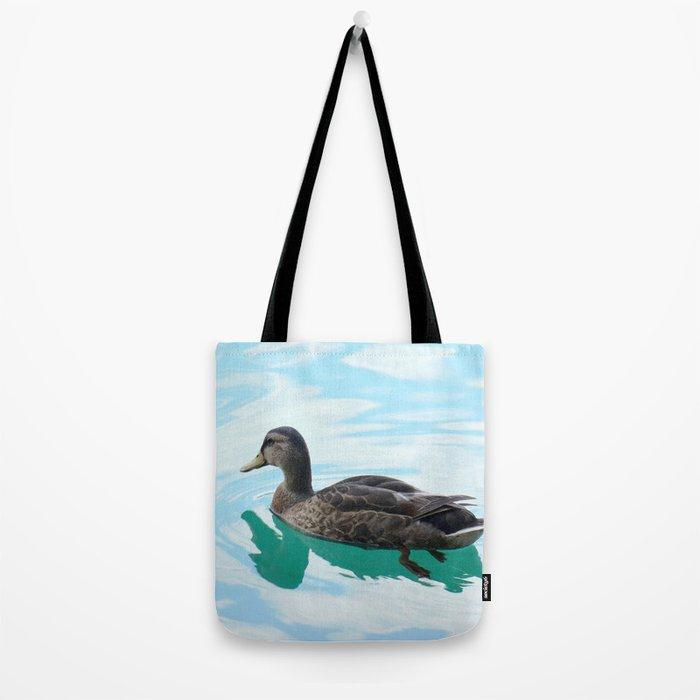duck and lake Tote Bag
