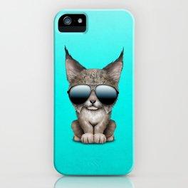 Cute Baby Lynx Wearing Sunglasses iPhone Case