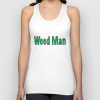 weed Tank Tops featuring Weed Man by BudProducts.us