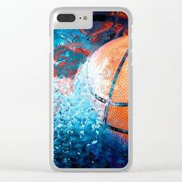 Unique Basketball Art Clear iPhone Case