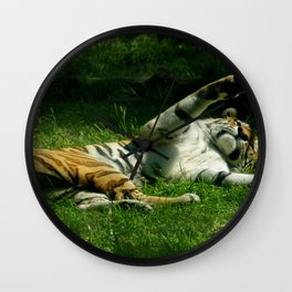 Resting Tiger Wall Clock