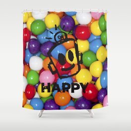HAPPY GUMBALLS Shower Curtain