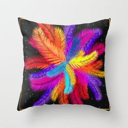 Palm Fronds Explosion Throw Pillow