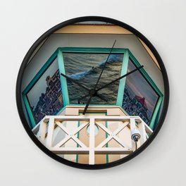 Surf City Reflects  Wall Clock