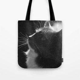 Black & White Cat Art Photograph Feline Tote Bag