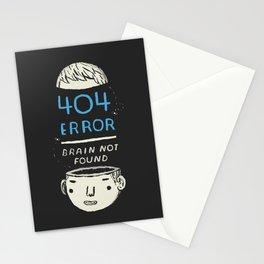 404 error: brain not found! Stationery Cards