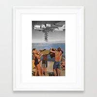bombs away Framed Art Prints featuring Bombs away by Adrian Jugaru