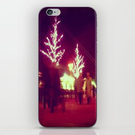 Pink trees iPhone Skin