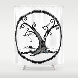 """Familiar and Friend"" Shower Curtain"