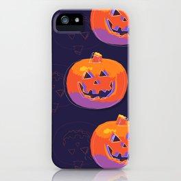 pumpkin with halloween iPhone Case