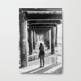 The girl at the pier Metal Print