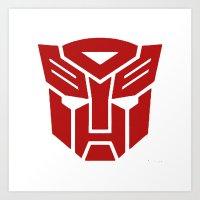 transformers Art Prints featuring Transformers by tshirtsz