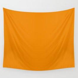 Simply Tangerine Orange Wall Tapestry